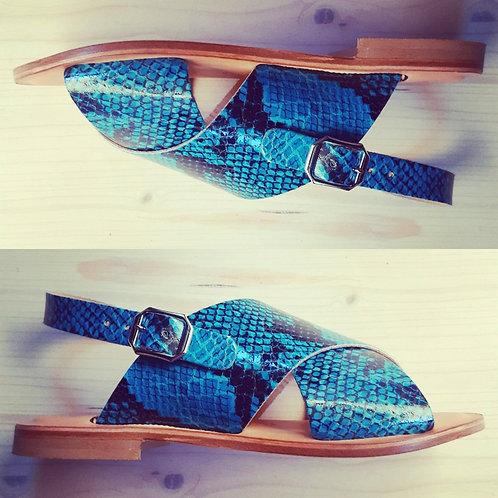 Sandalo Pitone Turchese