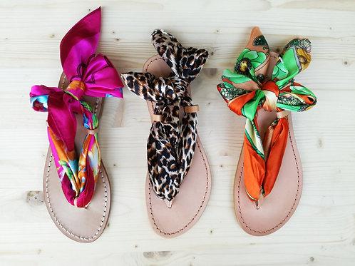 Sandalo con 1 Foulard