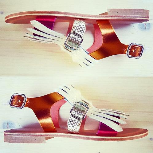 Sandalo Frangia Bianca