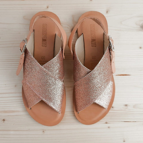 Sandalo Incrocio Glitter