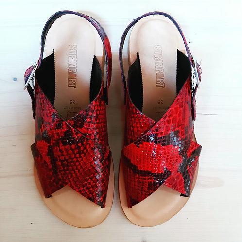 Sandalo Pitone Rosso