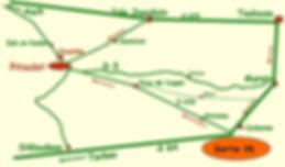 """plan pour """"le pitoulet"""", gîte de groupe 18 personnes 31230 en midi-pyrénées à la campagne"""