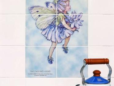 キッチン壁をオリジナルタイルで飾る