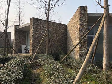 玉砂利の外壁