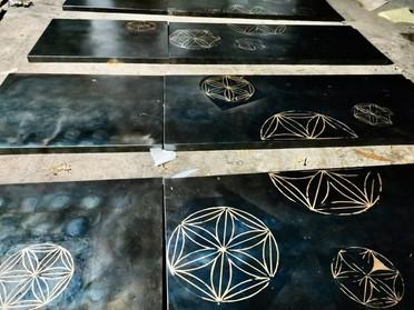腐食鋼板装飾