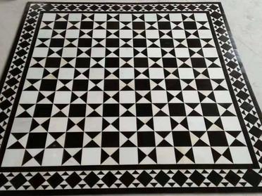 幾何学リボン模様