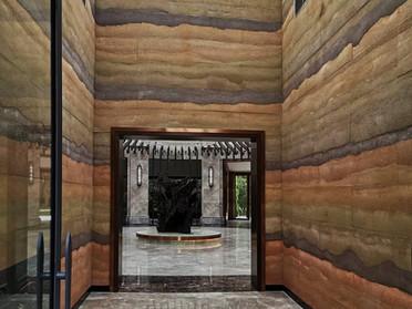 版築(はんちく)コンクリート装飾