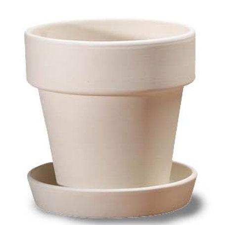 Plant pot & saucer - large