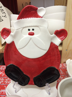 Paint your own santa plate