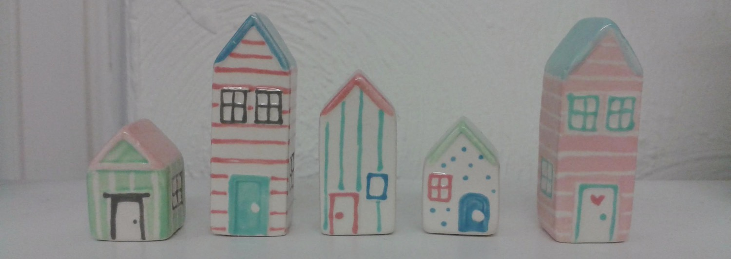 Ceramic beach huts