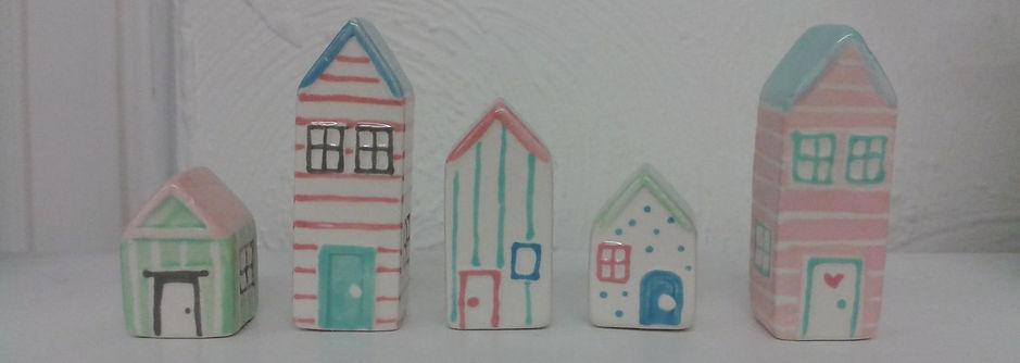 Ceramic beach huts