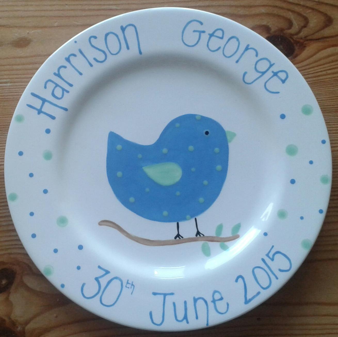 Personalised baby plate