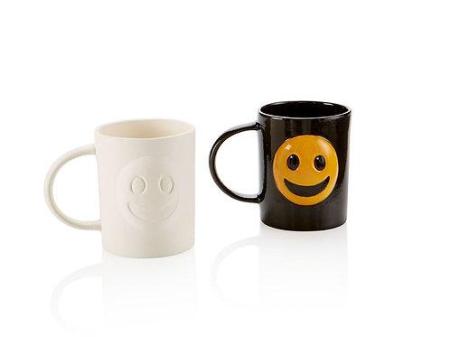 Happy/Sad emoji mug
