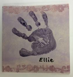 Hand print tile