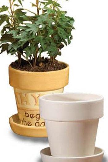 Plant pot & saucer - small
