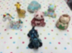 Ceramic party fun figurines