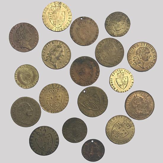 18th Century Gaming Tokens  (Fake brass 'Spade' guineas)