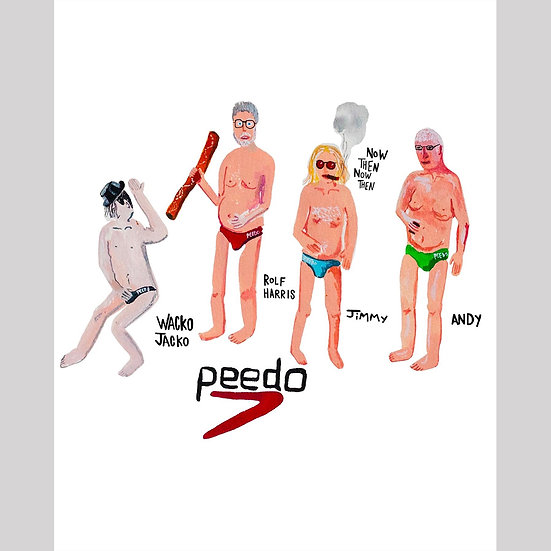 Original Mernywernz limited edition print 'Peedos in Speedos'