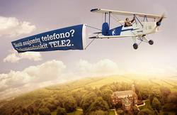 Tele2 lėktuvas
