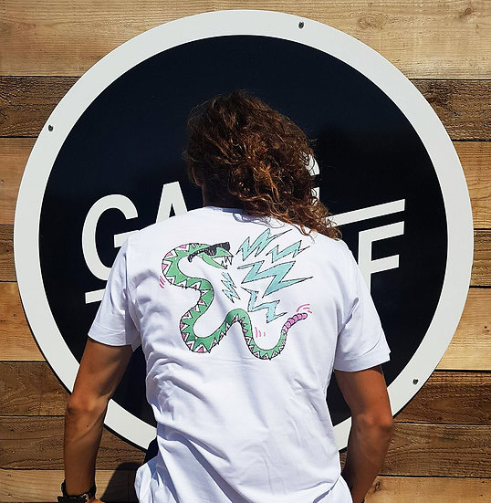 Tee-shirt serpent à lunette
