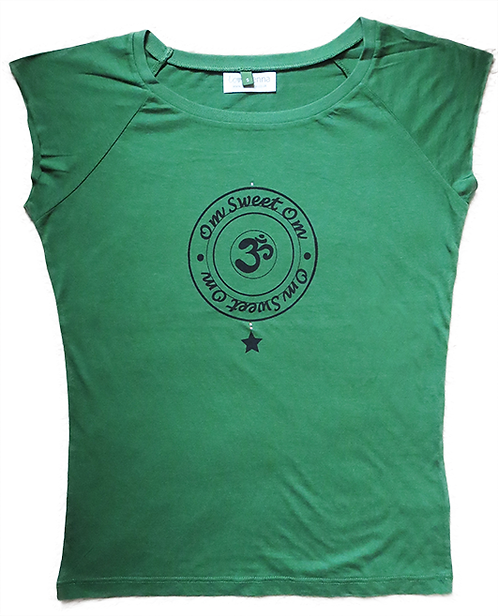 """Om Sweet Om"" Green Leaf T-Shirt"
