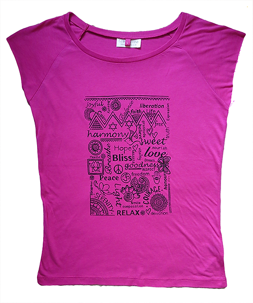 """Full of Goodness"" Raspberry Pink T-Shirt"