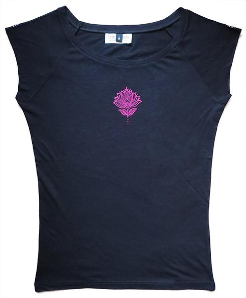 """Cosmic Lotus"" Black T-Shirt"