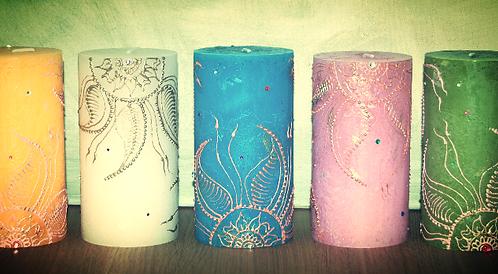 Panna Rustic Pillar Candle