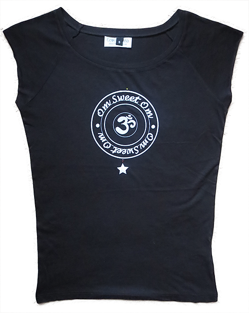 """""""Om Sweet Om"""" Black T-Shirt"""