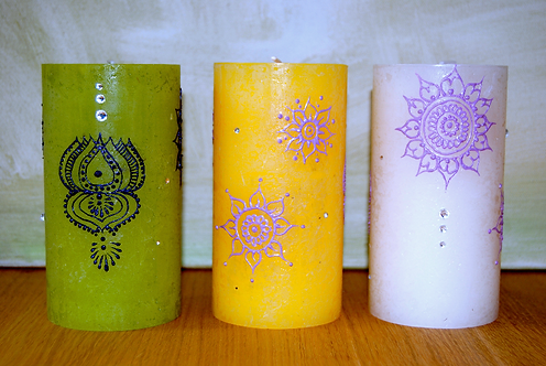 Kamala Rustic Pillar Candle