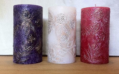 Gulab Rustic Pillar Candle