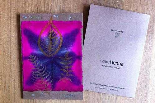 Cosmic Leaves Greeting Card