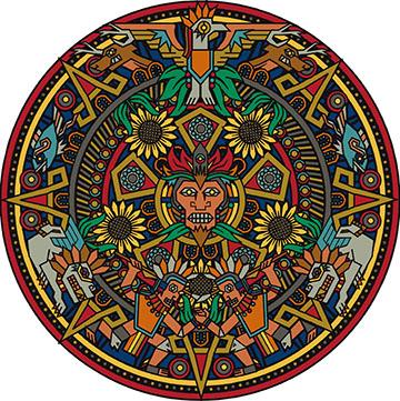 aztec mandala-color