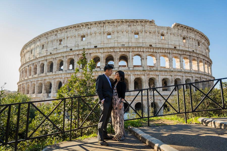 Colosseum engagement rome