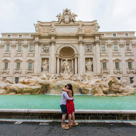 Andrew + Orla - A romantic surprise proposal at Trevi Fountain
