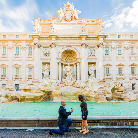 Kevin + Monica - Trevi Fountain at sunrise