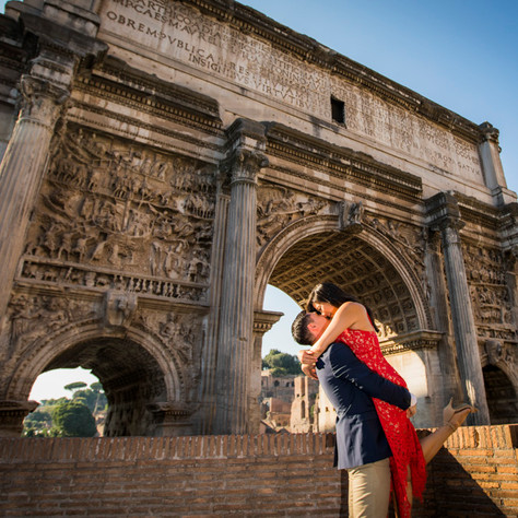 Sarah + Ben - Rome Engagement Photo-Session