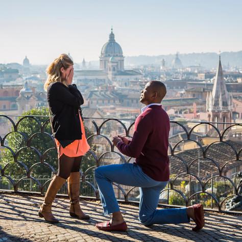 Tasha & Nathan - Rome Surprise Proposal