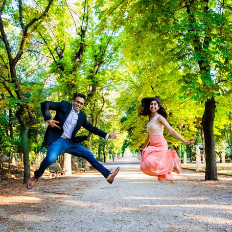 Hitesh + Avani - Summer proposal at Trevi Fountain