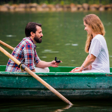 Jane + Daniel - A row boat surprise proposal in Villa Borghese