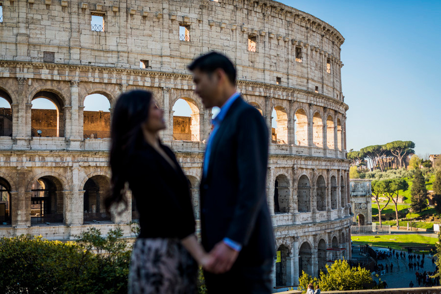 rome engagement colosseum