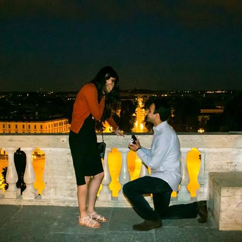 A Surprise Wedding Proposal in Rome - Amarpreet & Sima