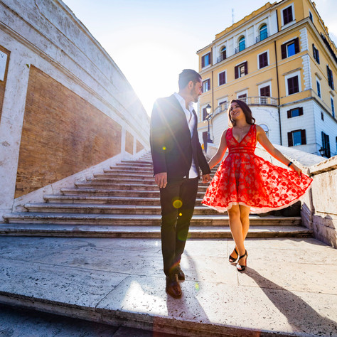 Azin + Navid - A sunrise rome photo-session