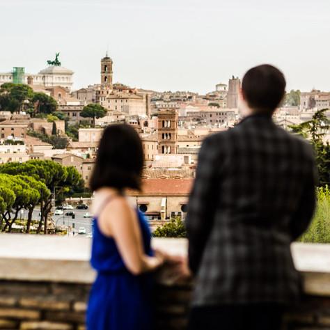 Rome surprise proposal - Jess & Daniel