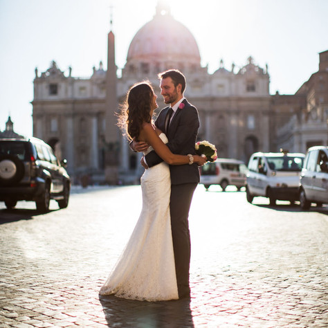 Sposi Novelli in Rome and wedding photography - Sophie & Mark