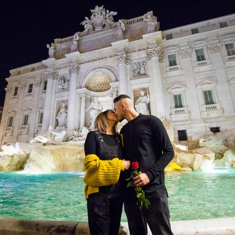 Jag + Veena - Trevi Fountain photo-session by Night