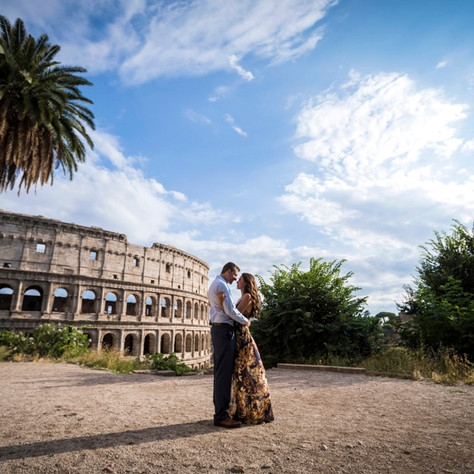 Josh + Stephanie - A romantic surprise proposal over the Colosseum