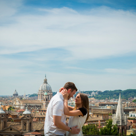 Jeff and Victoria: an authentic love story in Rome
