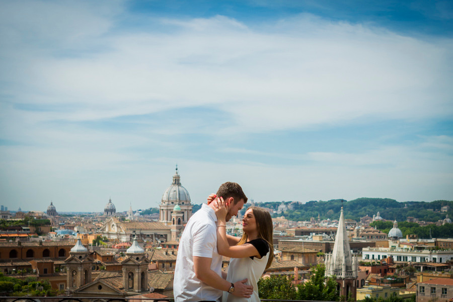 rome surprise proposal photography
