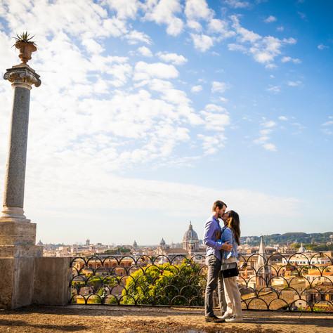 Cameron + Nicolette - Autumn and a rome surprise proposal
